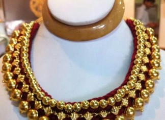 22 Carat gold choker designs