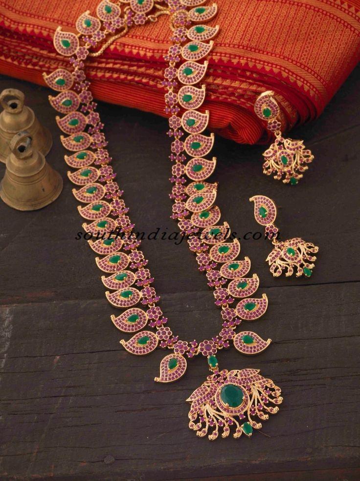 22 Carat Gold Long Haram South India Jewels