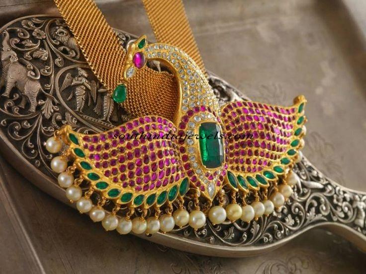 22carat jewellery peacock pendant
