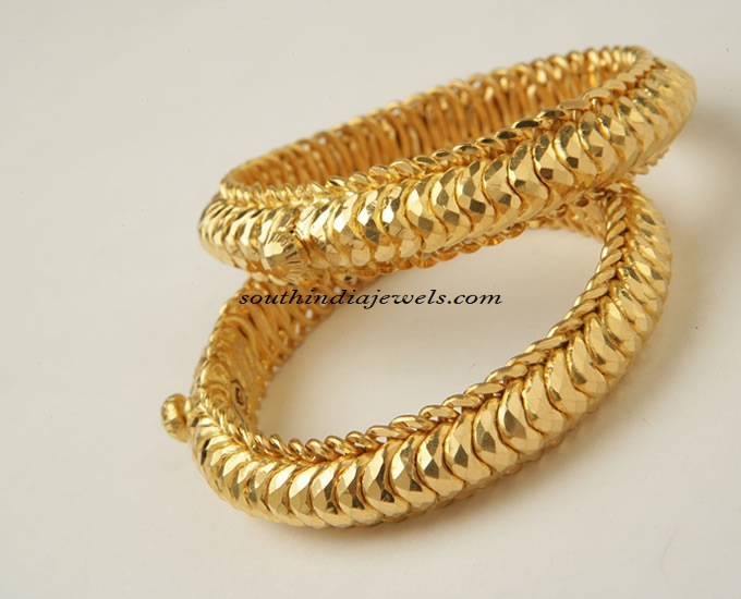 462a3399b 22carat gold bangle ~ South India Jewels