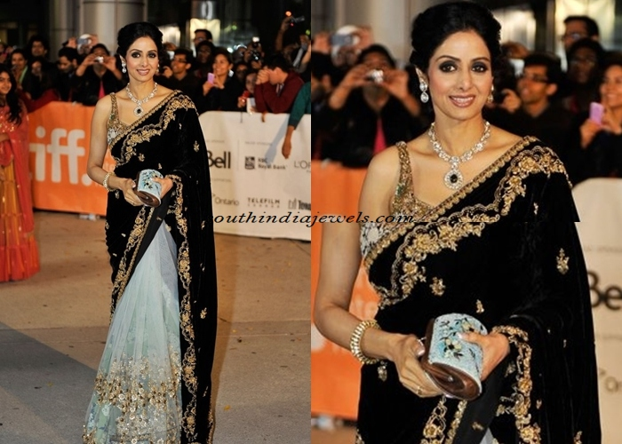 Actress Sridevi in diamond jewellery