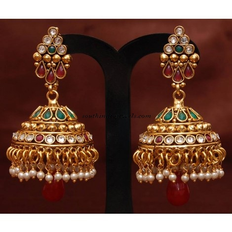 Antique Jewellery jhumkas