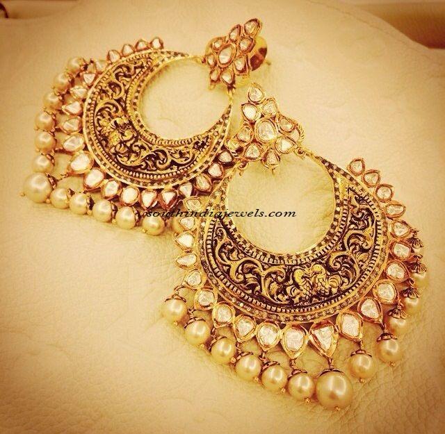 Polki diamond Jewellery Chandbalis