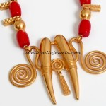 Designer Jewellery : Gold tribal art pendant
