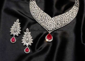 Diamond-necklace-set-Gehna-jewellers