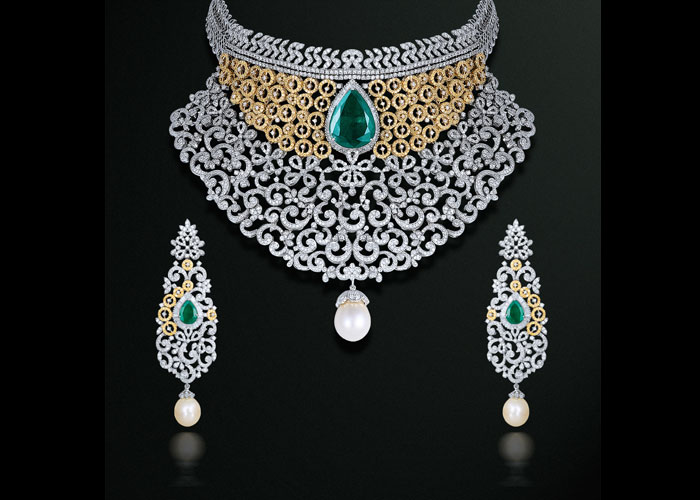 Gehna diamond jewellery necklace set