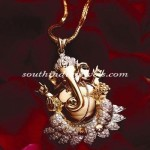 Gold Ganapathy Pendant design