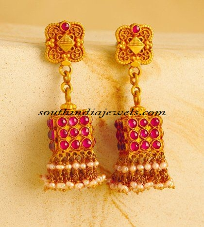 Gold Jhumka designs