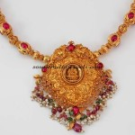 Temple Jewellery Necklace with lakshmi pendant