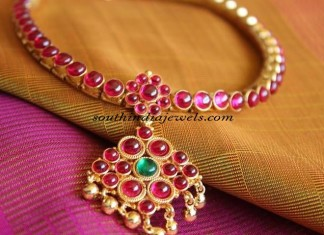 Imitation Jewellery Antique Ruby Necklace