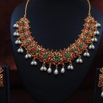 Imitation Jewellery – Ruby, emerald,pearl studded necklace