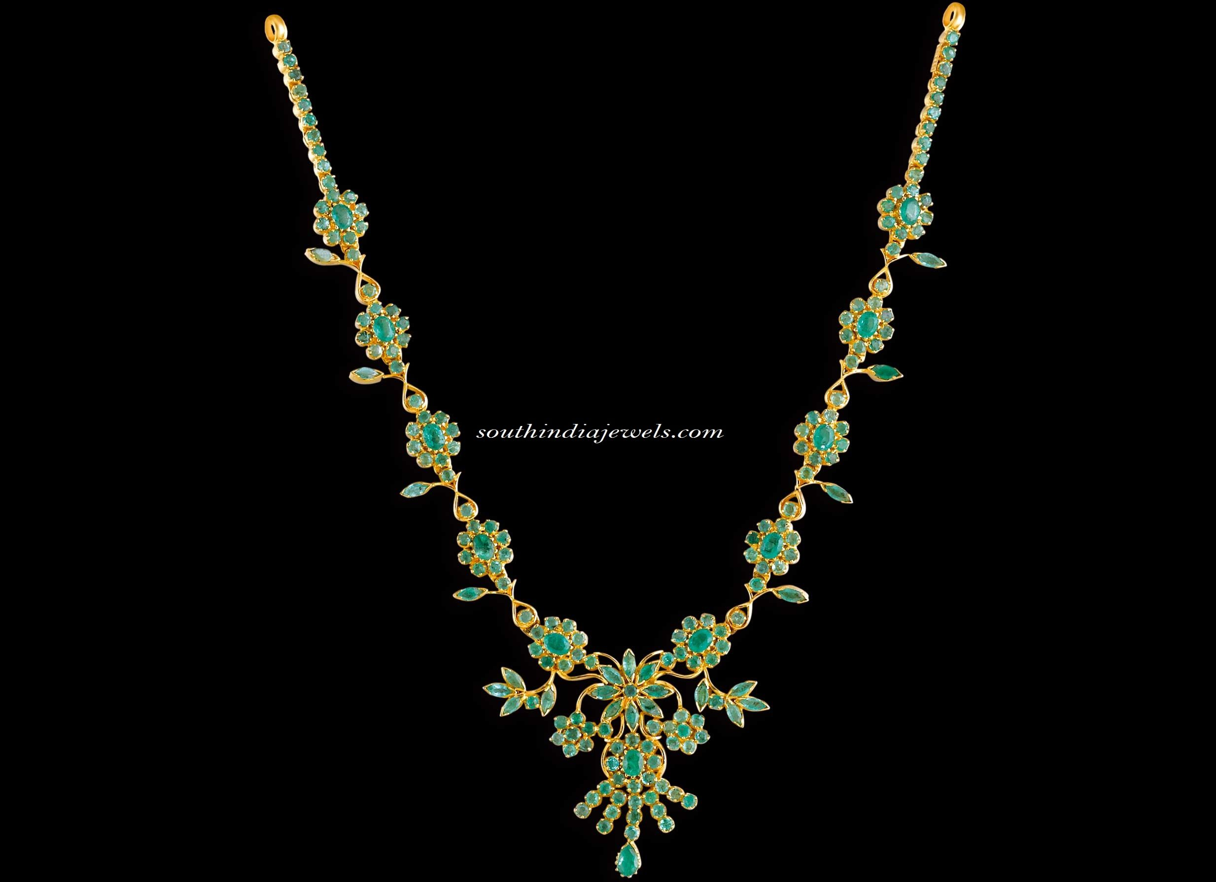 Kerala Jewellers Gold Haram design with price ~ South