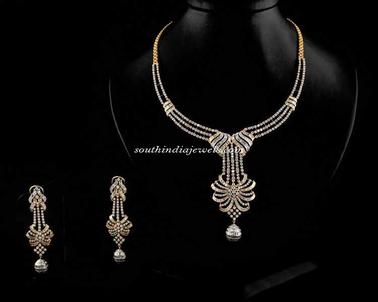 Diamond Necklace set from Manikchand Jewellers
