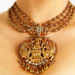 Multilayer Gold Temple Jewellery necklace