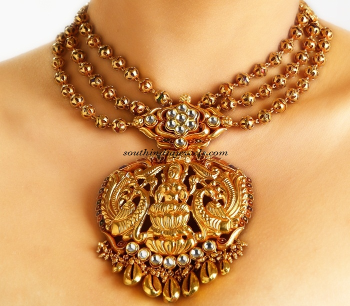 Multilayer gold temple Jewellery