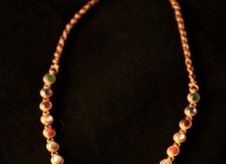 Gold Jewellery Navaratna Necklace