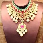Elegant Polki Jewellery Necklace design