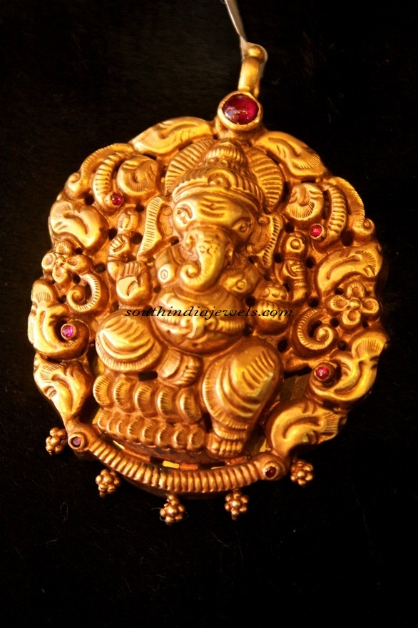 Temple jewellery ganesh pendant south india jewels temple jewellery ganesh pendant aloadofball Choice Image