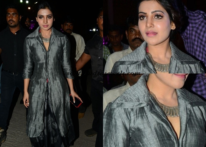 Samantha Prabhu wearing Amrapali necklace