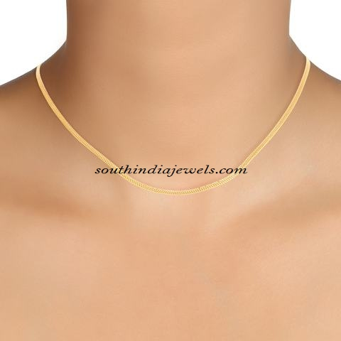 indian plain nice design chain chains with necklace details gold