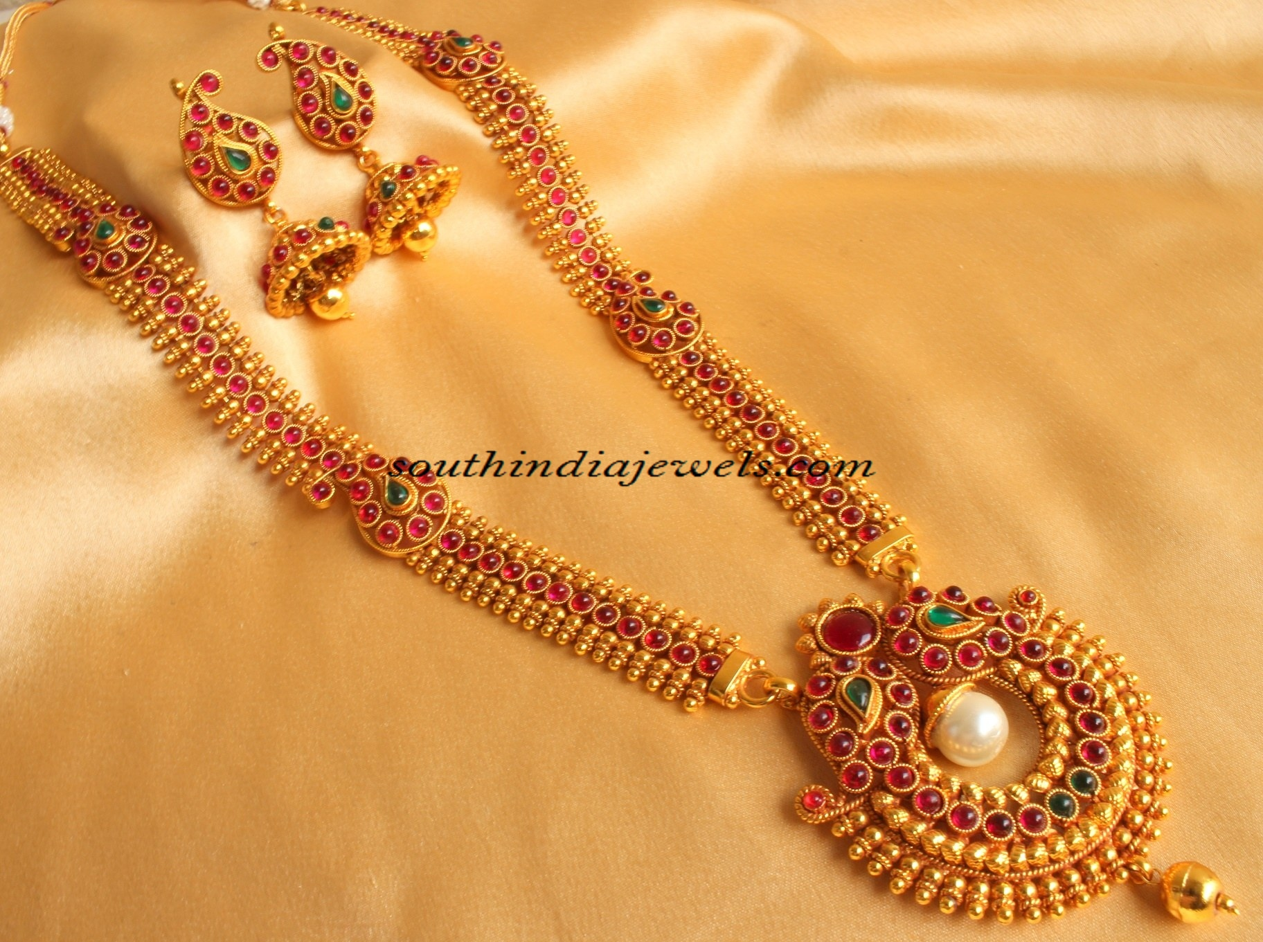 svtm set jewellery necklace gold imitation