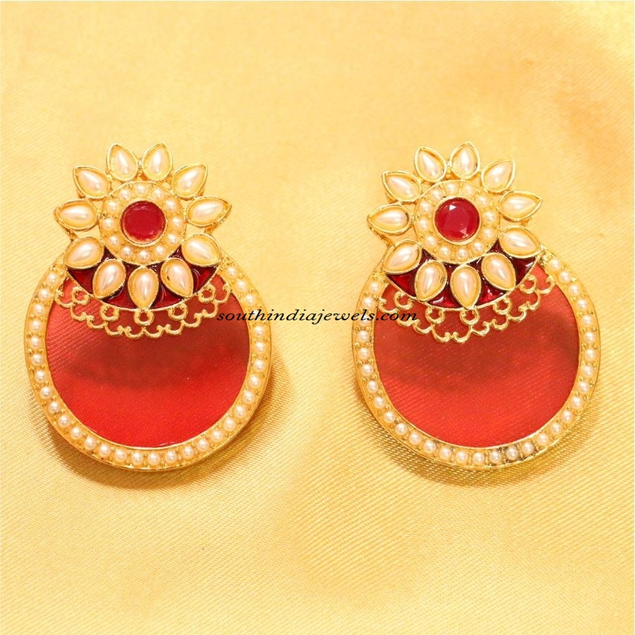 imitation jewellery polki earrings