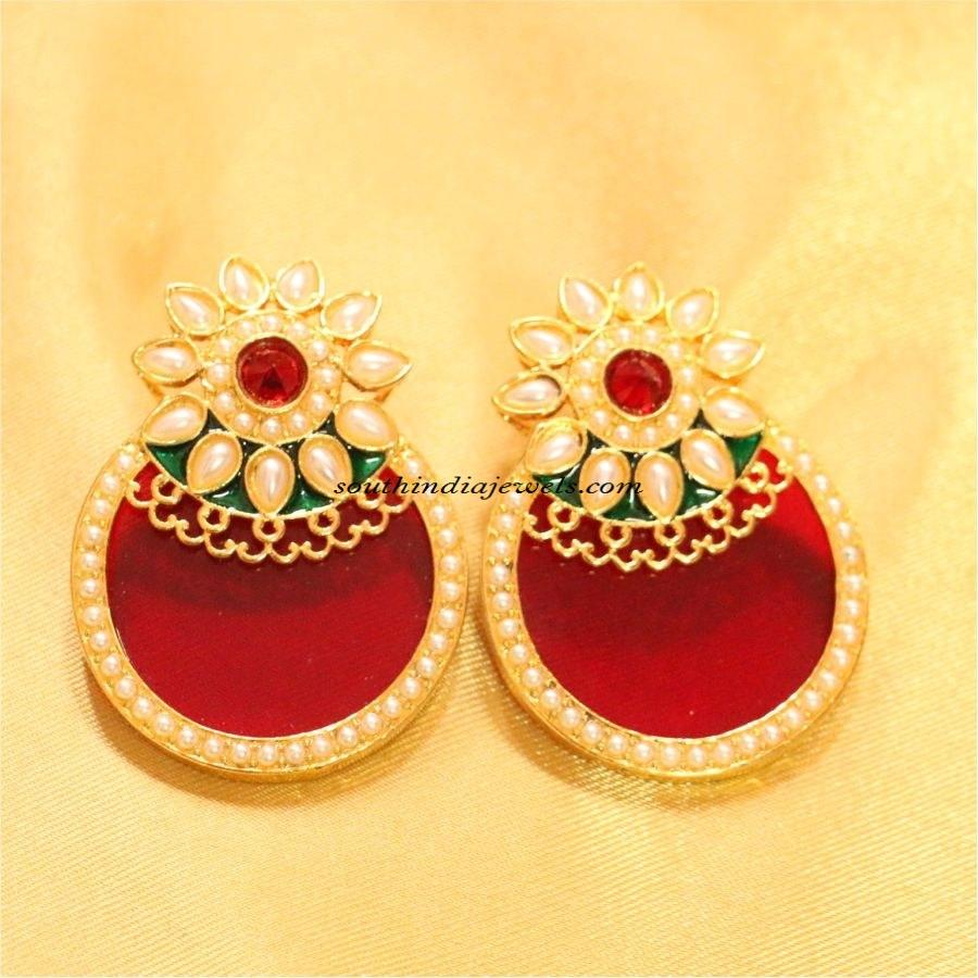 imitation jewellery polki earrings