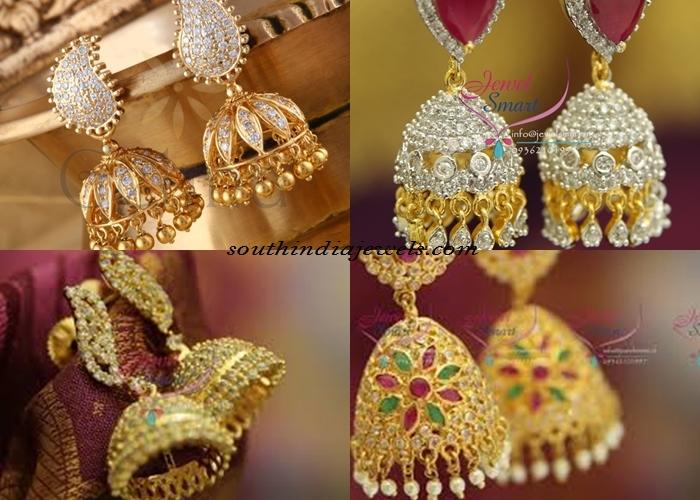 Indian jewellery stone jhumkas