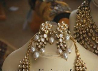 uncut diamond jewellery necklace