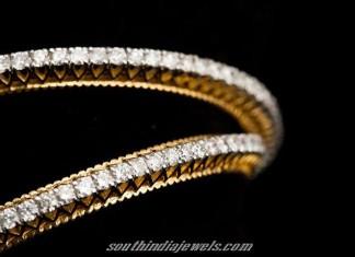 22K Gold Stone Bangles