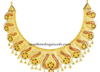 22K Gold necklace from Kerala Jewellers