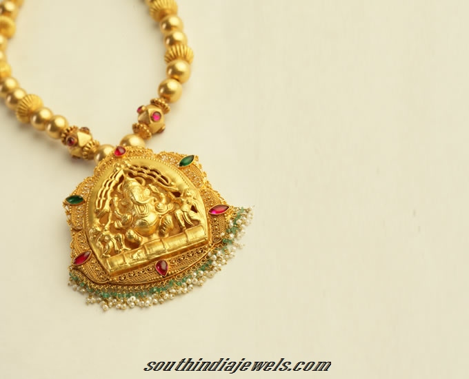 Antique Gold ganapthy pendant