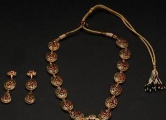 Antique designer jewellery necklace set
