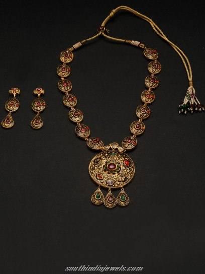 Antique designer jewellery necklace set