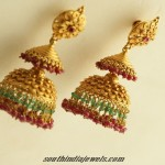 Antique Gold Jhumka Design