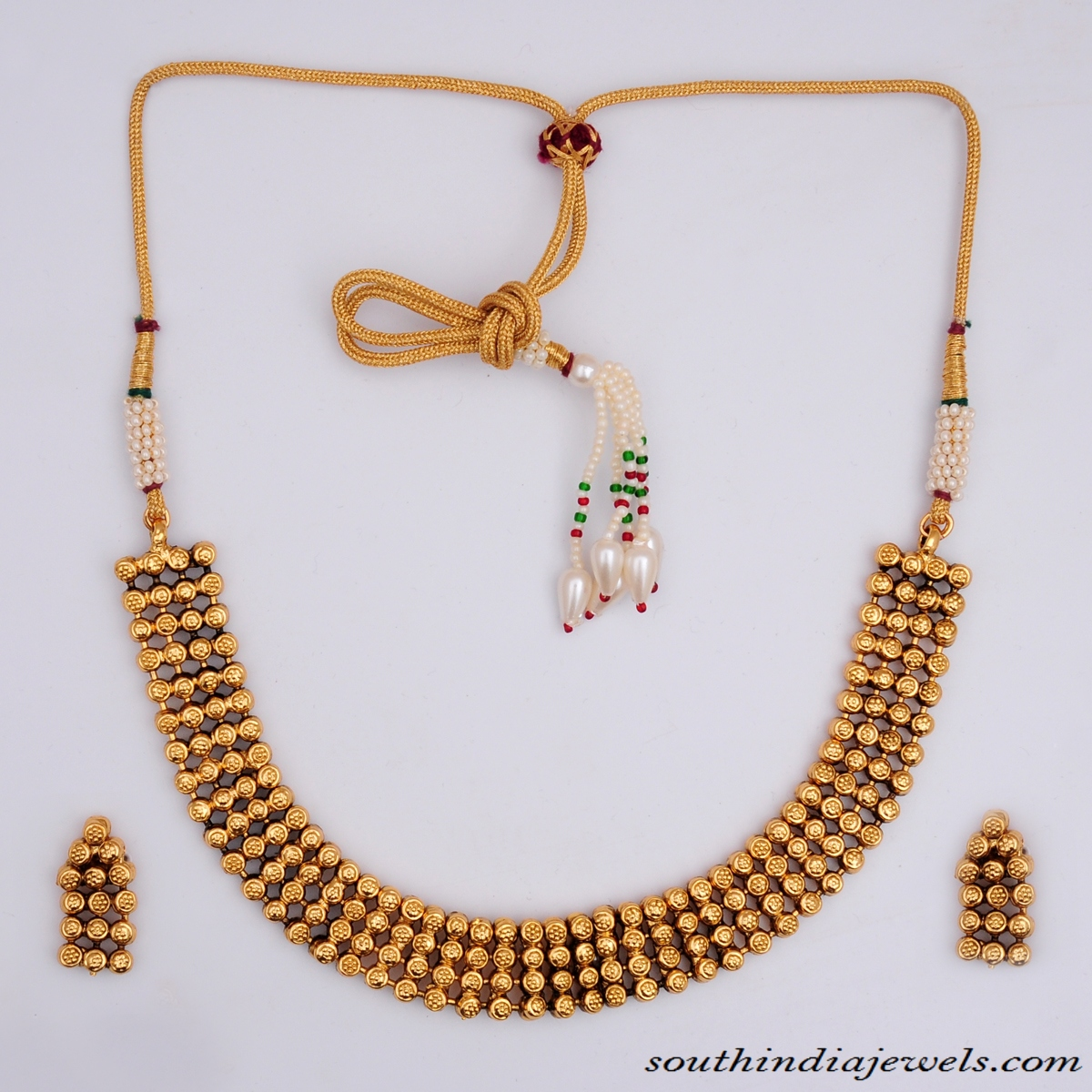 b869dc91a Artificial Antique Necklace set with earrings ~ South India Jewels