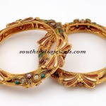 Designer gold bangles from forever jewel
