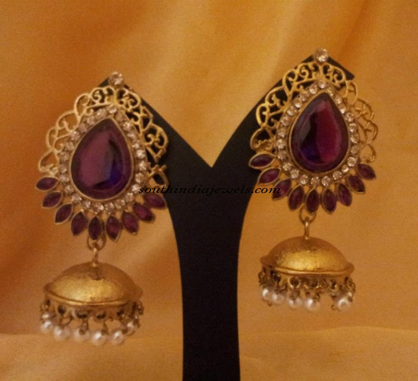 Designer Jewellery Antique Jhumkas
