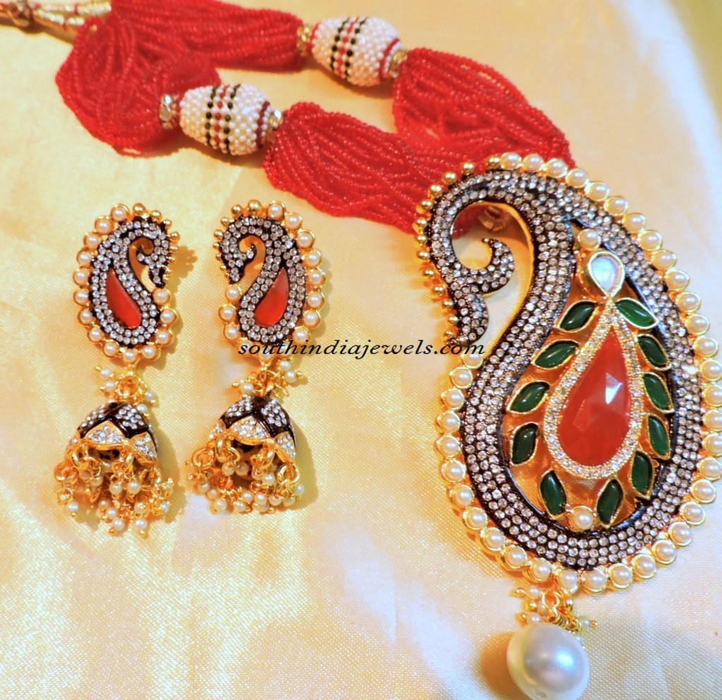 Designer jewellery necklace set