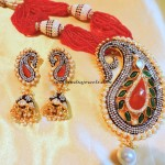 Designer jewellery necklace set