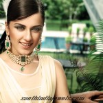 Designer Diamond Emerald Choker from Manubhai Jewellers