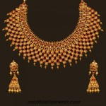 22 Karat Gold choker necklace set with earrings