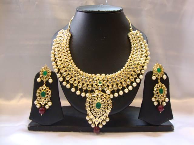 imitation american diamond necklace set