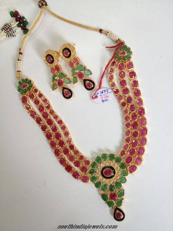 Imitation American Diamond Necklace South India Jewels