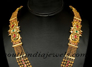 Indian antique gold jewellery haram set