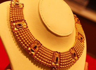 Kalyan jewellers azva collection necklace set