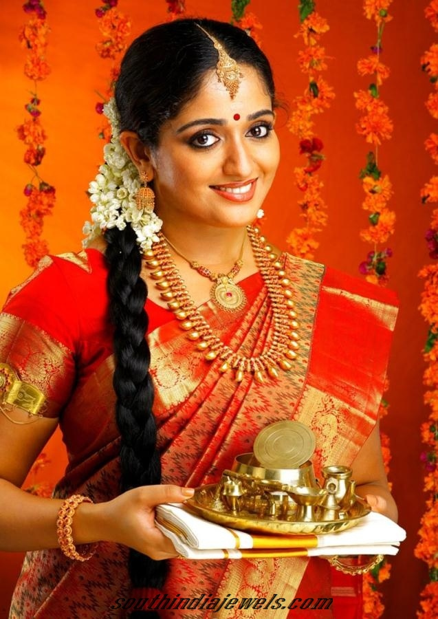 Kavya Madhavan in bridal jewelleries