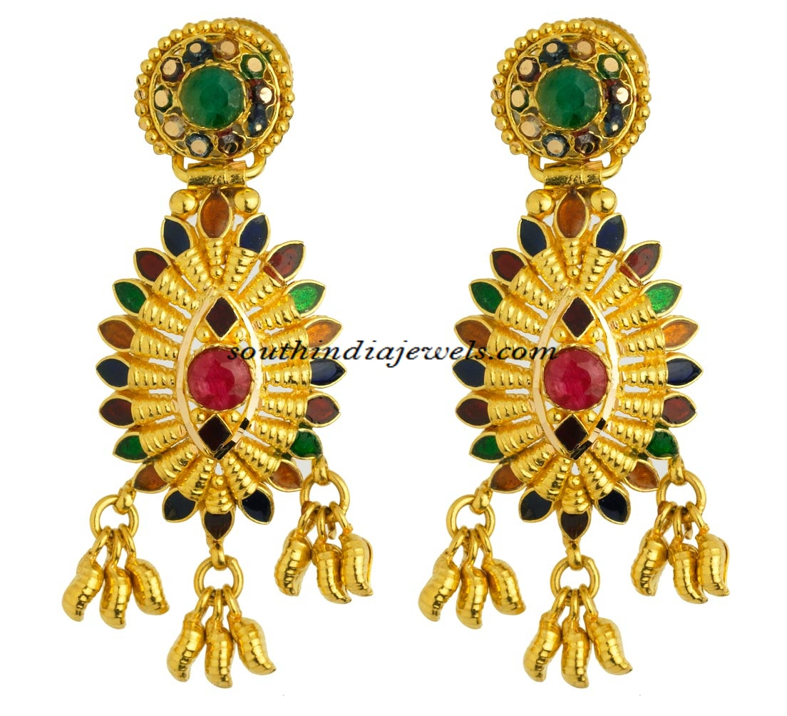 Kerala jewellery earrings with price ~ South India Jewels