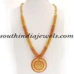 Kerala Jewellers Gold Haram design with price