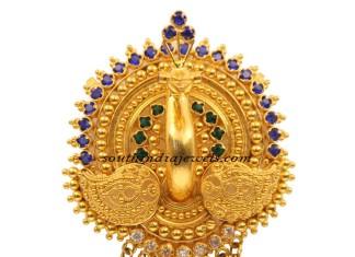 Kerala Jewellers Peacock pendant